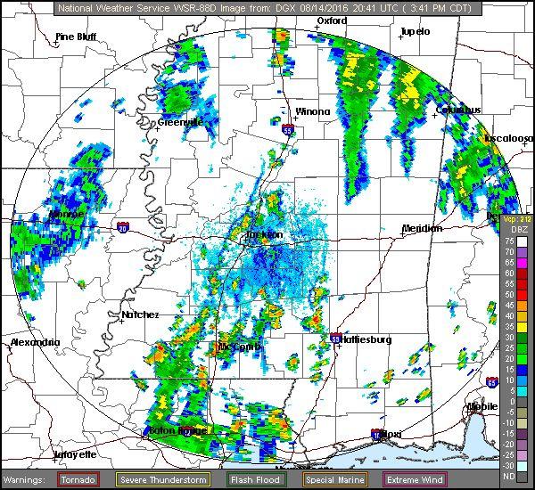 Rankin County, MS Weather Radar Doppler