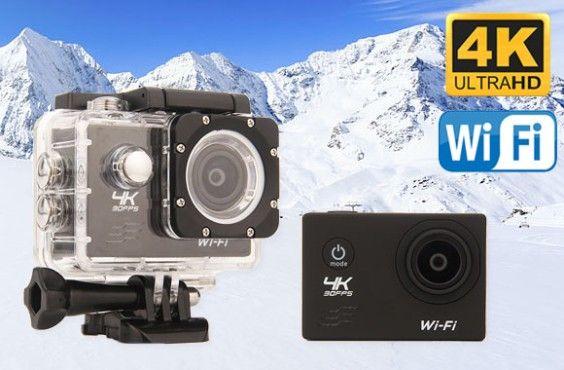 48% de rabais sur une caméra de sport 4K wi-fi étanche dotée d'un écran de 2 po, 6 couleurs
