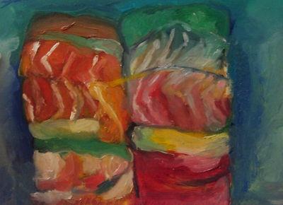 Food Still life Oil painting Sushi