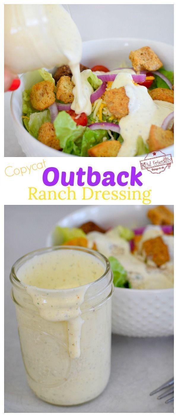Dieses Rezept für ein Nachahmer-Outback-Ranch-Dressing kommt dem Original sehr nahe. Benutze es…   – Dressings
