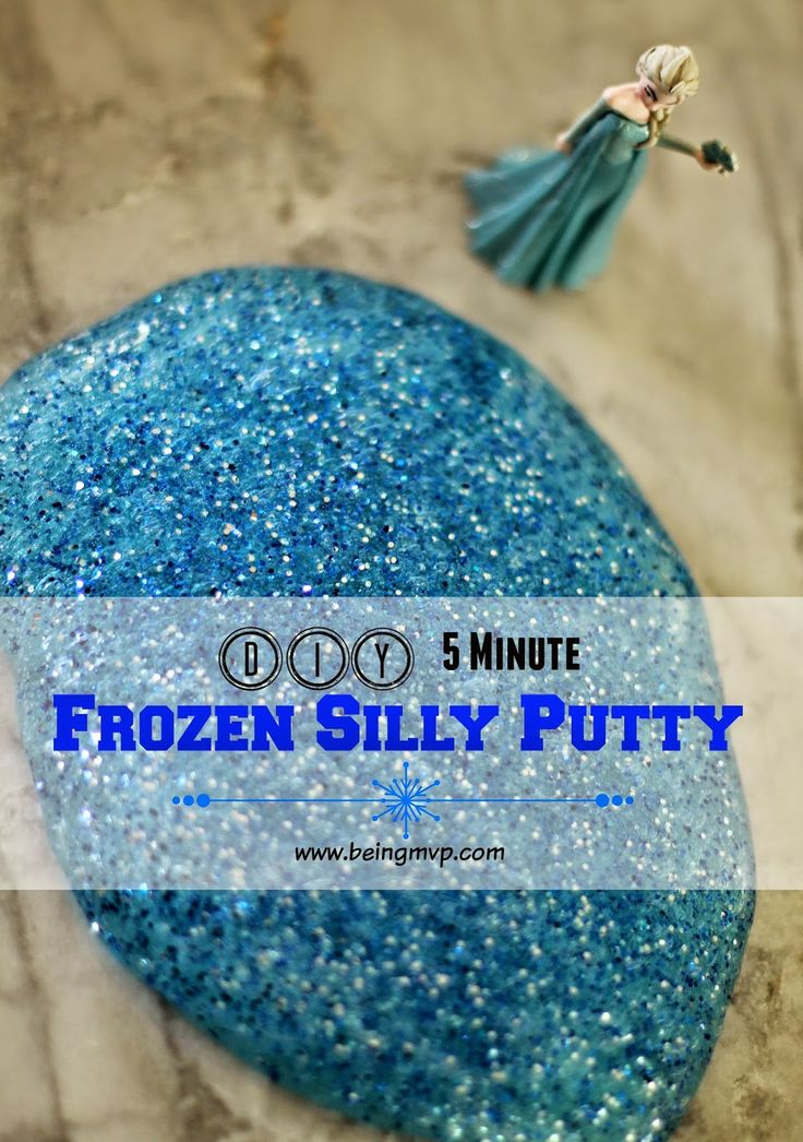 being MVP: DIY 5 Minute Frozen Silly Putty #FunCraftsWithMom