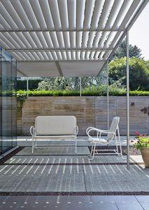Panca moderna / in metallo / di Jaime Hayon / da giardino - GARDENIAS : OUTDOOR