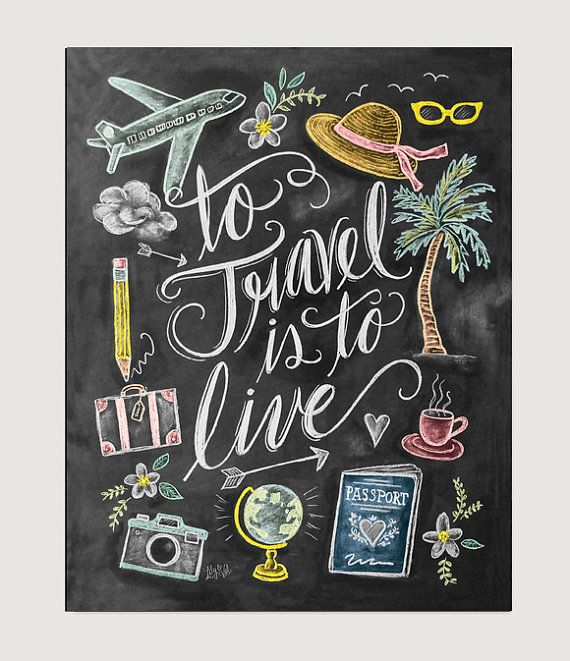 To Travel Is to Live Print Wanderlust Print by LilyandVal