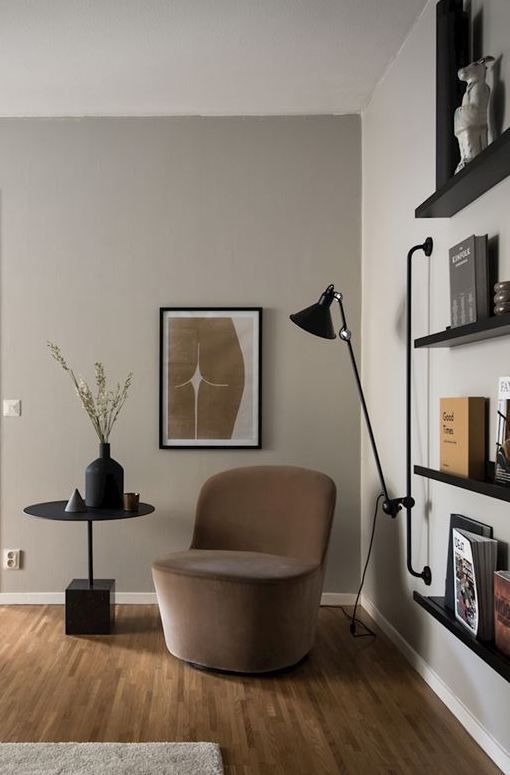 Warm beige living room