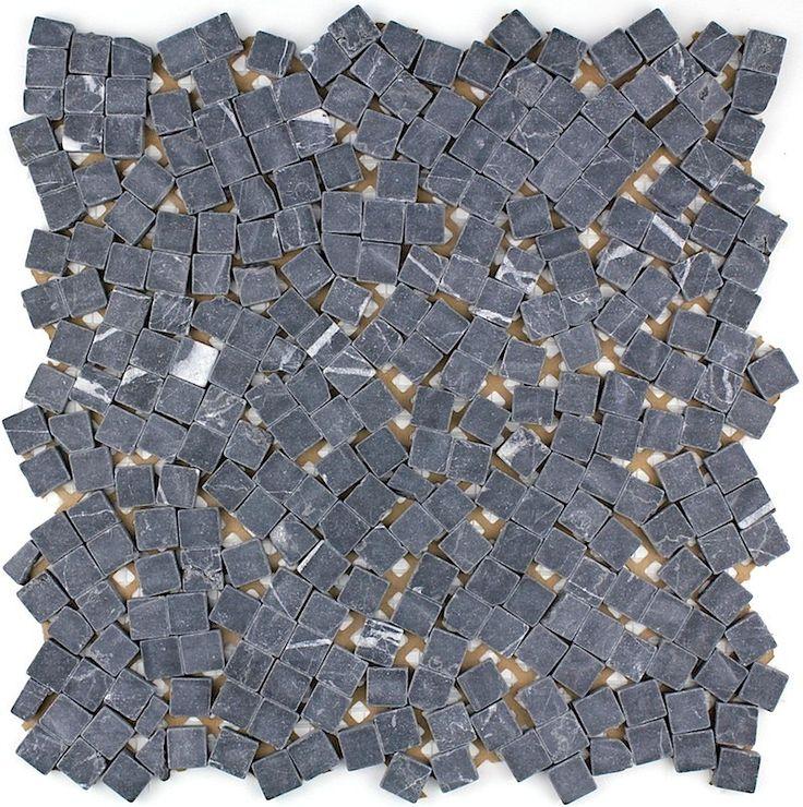 mosaique carrelage pierre 1 plaque lulli noir 741 httpwww