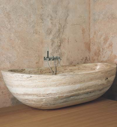 Meravigliosa vasca da Bagno realizzata #Boxart, la concretezza della pietra, mitigata da forme morbide e leggere. #bathroom #vasca arredobagno #madeinitaly #design www.gasparinionline.it