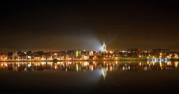 Nocna panorama Ełku  Autor Internauta Mariusz
