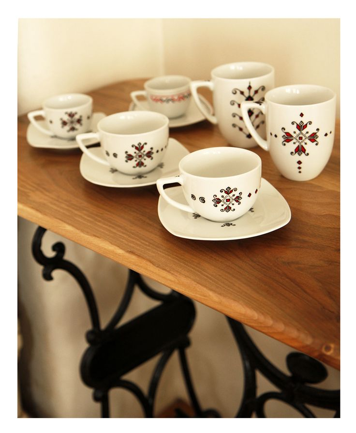 CANA CAFEA / CEAI cu motive traditionale Ie de BohemianFlow Breslo