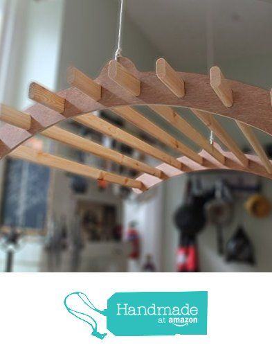 Handmade Wooden Clothes Rack Dryer | 8 Lath | Victorian Ceiling Pulley Maid…