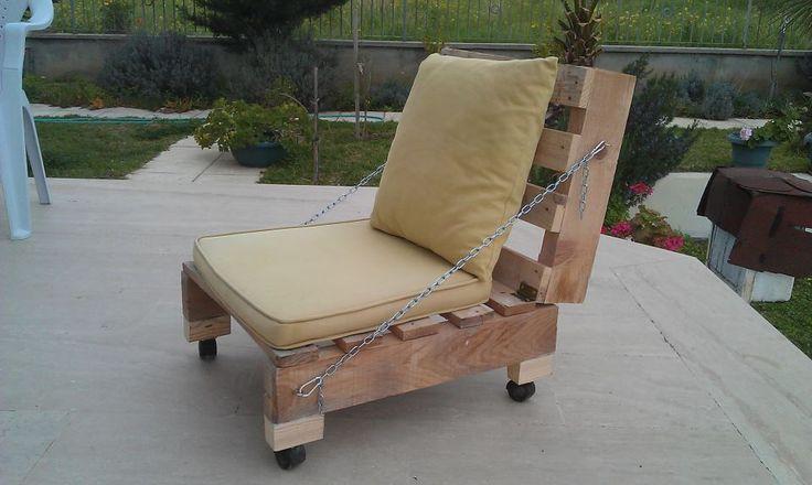 garden furniture Pallet garden furniture in outdoor furniture  with Seat Outdoor Garden Chair