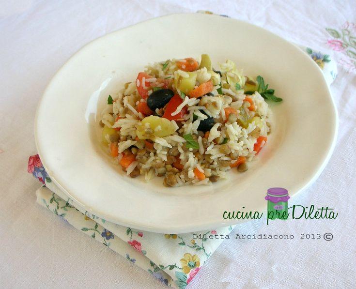 Insalata di riso Basmati e lenticchie, un primo piatto estivo fresco e nutriente,da servire anche come piatto unico. L' insalata di riso Basmati e ........