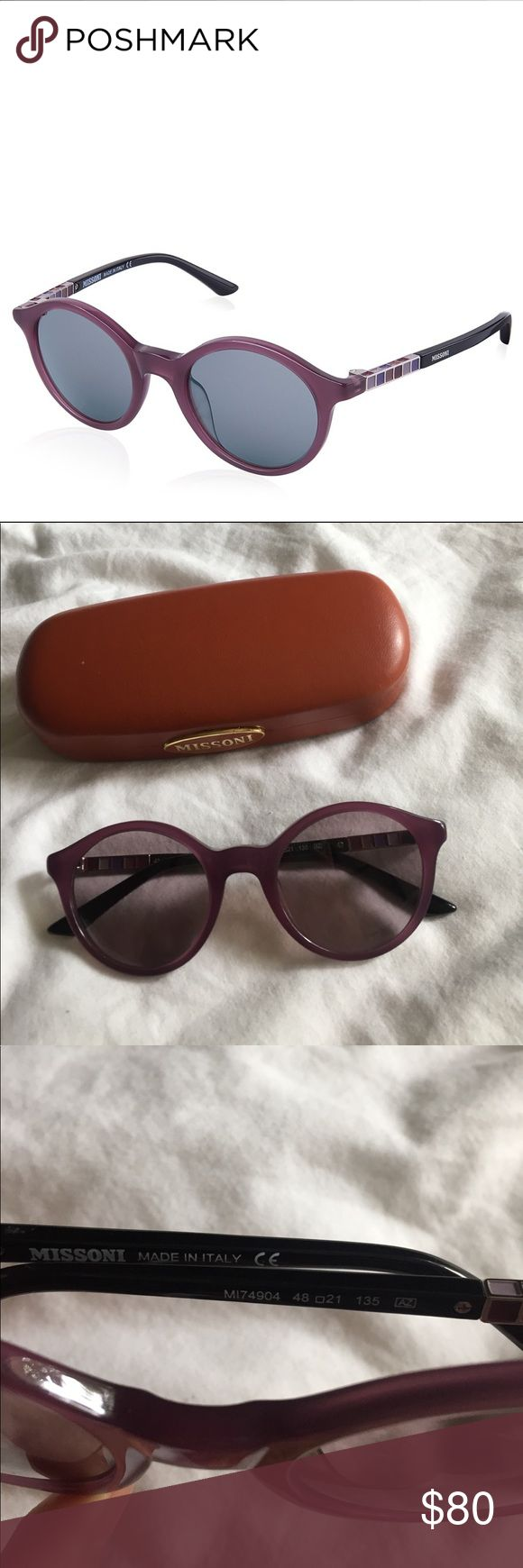 Missoni purple sunglasses 100% authentic missoni sunglasses. Will come with case as pictures and cleaning cloth. Used once or twice , great condition Missoni Accessories Sunglasses