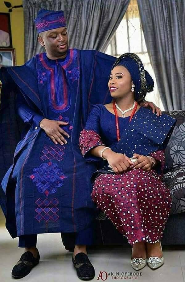 Complete Couple\u0027s Stylish Aso oke Nigerian Wedding Couples