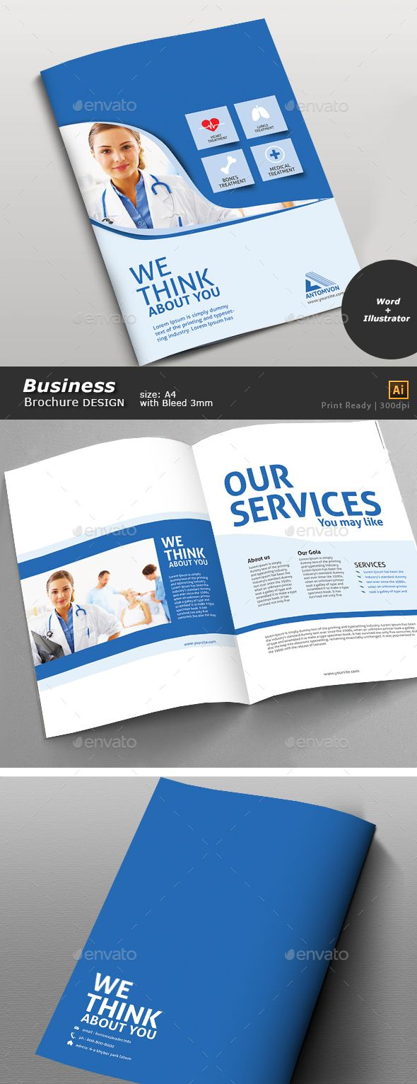 medical office brochure templates - medical brochure