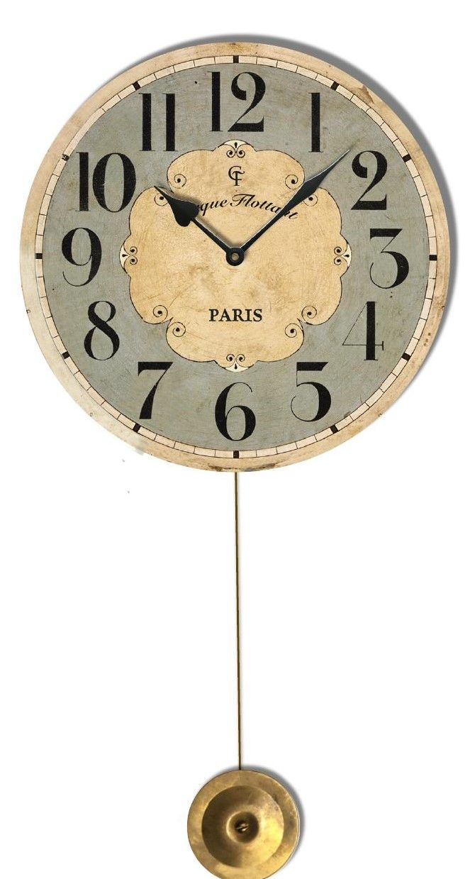 What A Charming Pendulum Clock, Made With A Glass Lens It Work As A Great  Accent Piece In A Kids Room, Kitchen Or Bath.