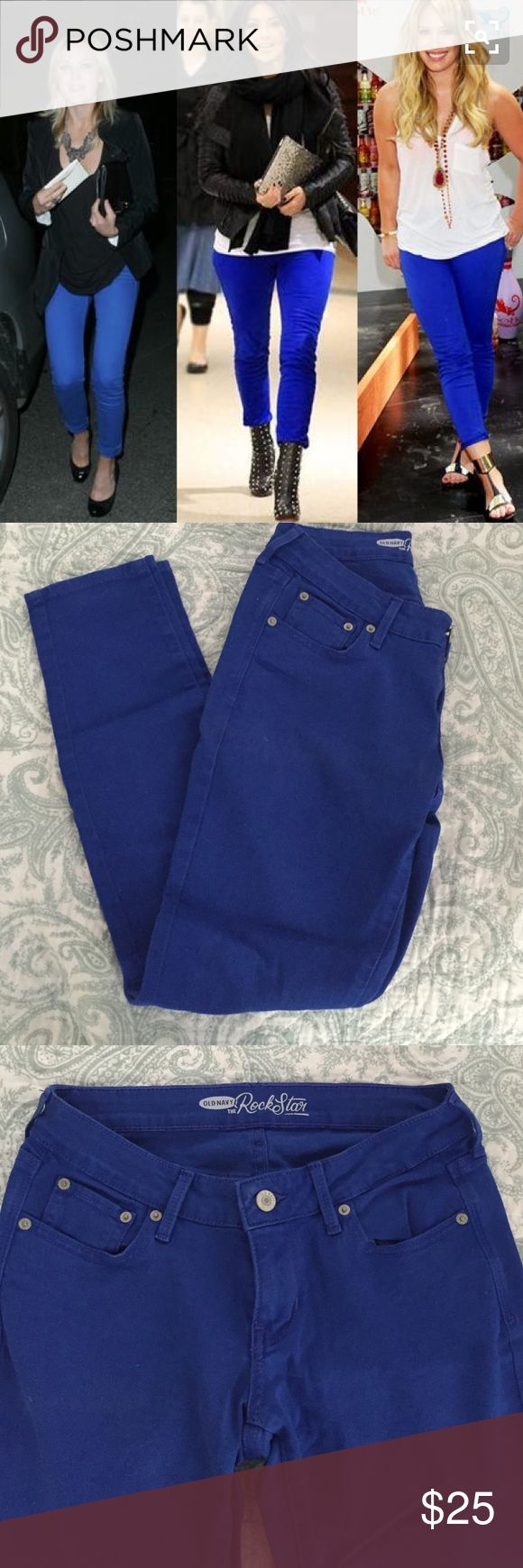 Royal Blue Jeans- Size 2 Only worn once and super flattering! Listing under ASOS for exposure ASOS Jeans Skinny