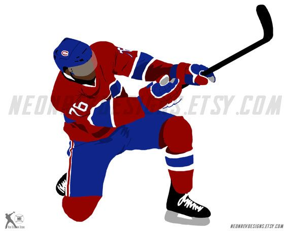 PK Subban Celebration Printed Poster by NeonRevDesigns on Etsy