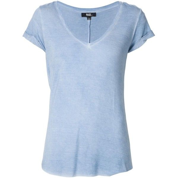 Paige 'Charlie' T-shirt found on Polyvore featuring tops, t-shirts, blue, blue tee, light blue t shirt, light blue top, blue top and blue t shirt