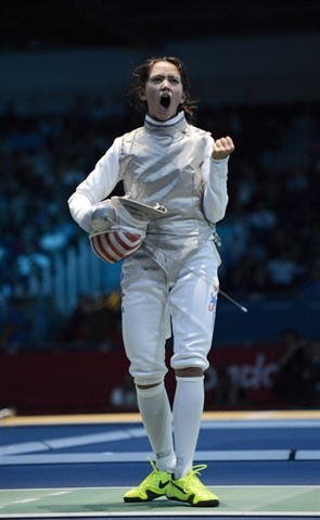 USA Fencer, Lee Keifer at the 2012 London Olympics