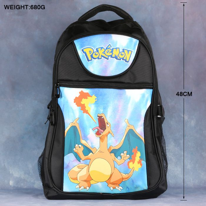 High-quality Pokemon GO Charizard Anime Backpack School Bag Laptop Bag Large capacity Double-Shoulder Travel Bag #Affiliate