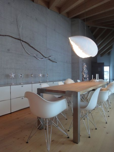 dining area - room - Eames chairs - usm haller - branches - decor