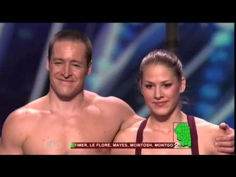 America's Got Talent 2015 - Karen and Dominic - The Human Flags - Auditions 7 - YouTube