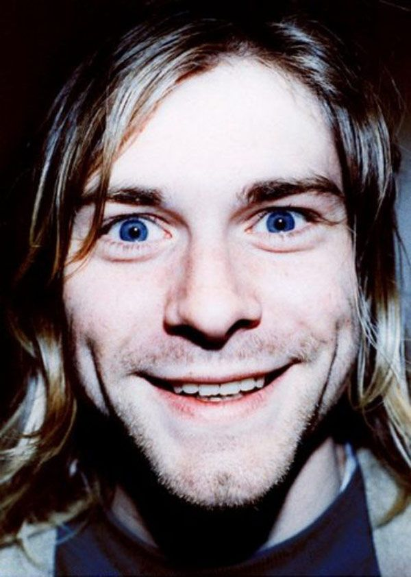 Kurt Cobain Looking Happy