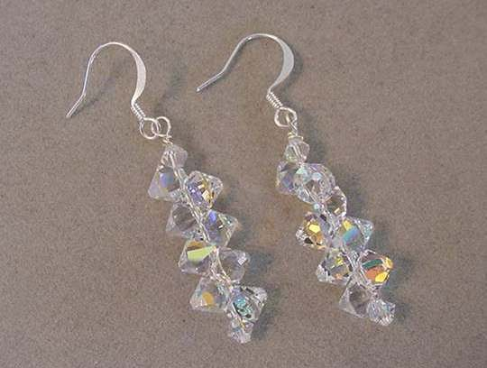 SWAROVSKI Top Drilled Crystal Earrings Crystal AB ...