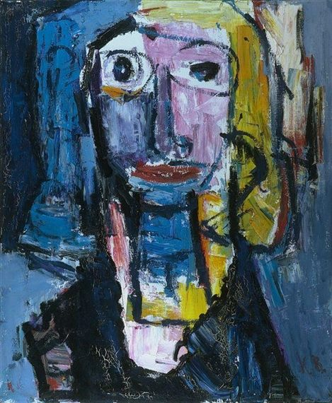 Karel Bleijenberg - Portrait, 1987, Oil on canvas on MutualArt.com