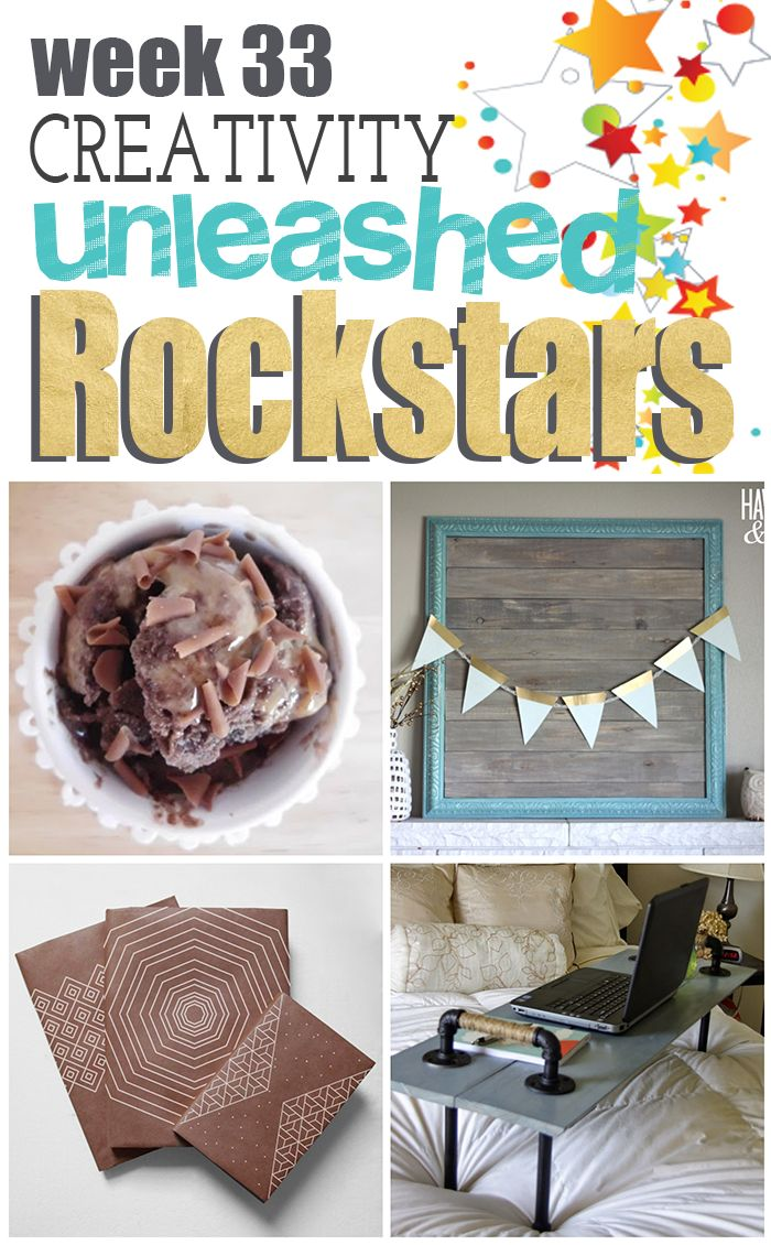 The 4 amazing Rockstars and their awesome DIY's from Creativity Unleashed Week 33!  Come vote for your favorite!