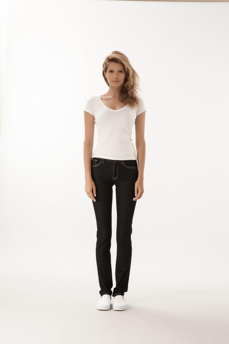 Anya / High Waist Slim Fit  #denim #CrossJeans