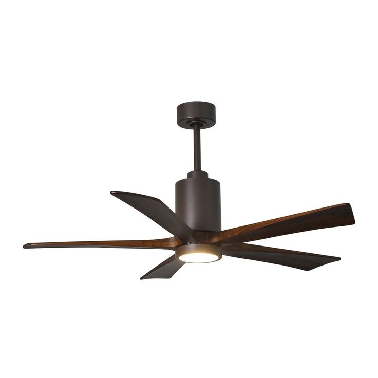 Modern Matthews Fan pany Patricia 5 blade 52 inch Textured Bronze Paddle Fan with Light Modern - Modern Ceiling Fans without Lights Modern