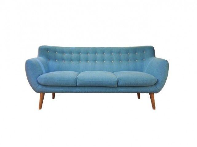 20 Sentou canapé bleu Coogee style déco années 50