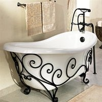 wrought iron tub