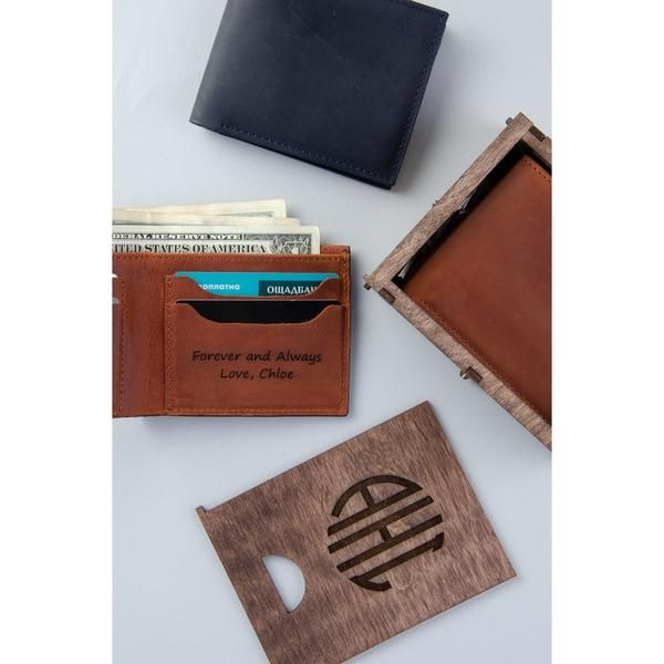 9fcfe512 Mens Boyfriend Sister Small Leather Wallet Black Money Personalized ...