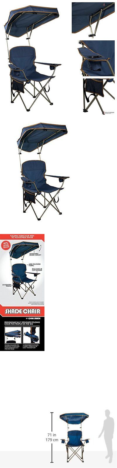 Camping Furniture 16038: Portable Folding Camp Shade Canopy Umbrella Chair Cup Hold Camping Beach Travel -> BUY IT NOW ONLY: $30.59 on eBay!