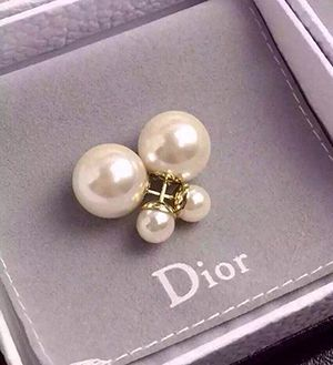 dior pearl earrings tribal