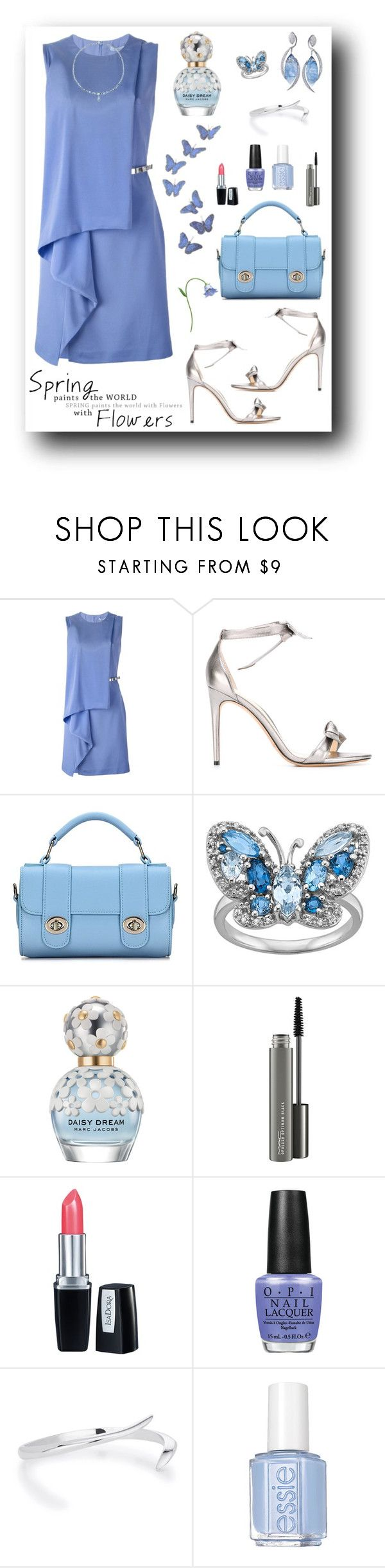 """Blue Spring"" by rboowybe ❤ liked on Polyvore featuring Blumarine, Alexandre Birman, De Beers, Marc Jacobs, MAC Cosmetics, Isadora, OPI, Essie and contestentry"