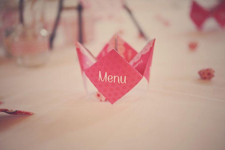 Les 16 meilleures images du tableau Menu de mariage origami cocotte