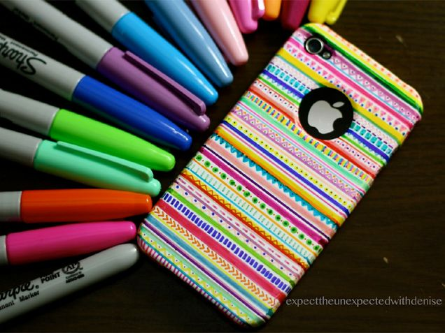 Tribal Print Case - http://www.ivillage.com/stylish-ways-decorate-your-cell-phone-case/7-a-551399
