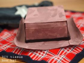 Pink Stripey Socks: Cowboy gear part 2: DIY cardboard tissue box cowboy hat