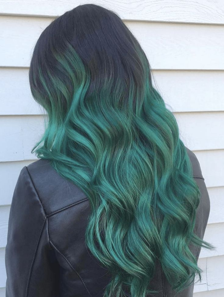 Beautiful dark green ombre hair color for christmas its