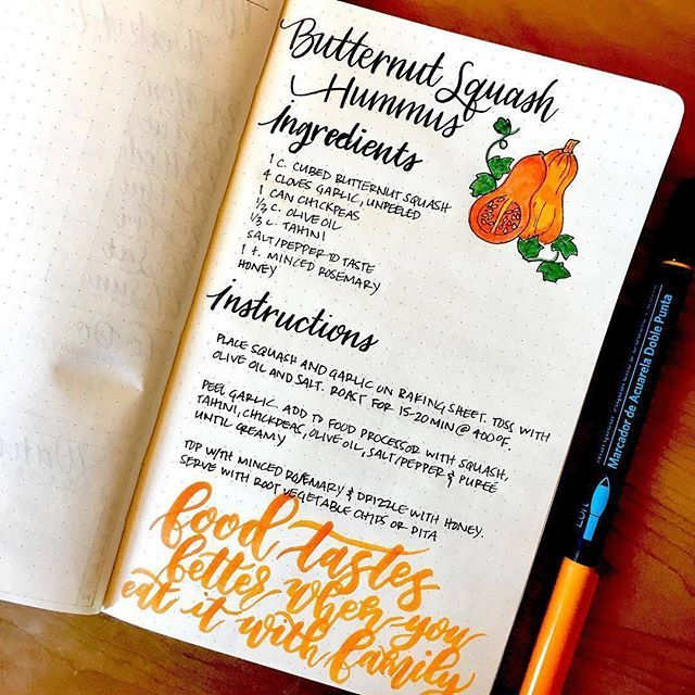 Love the color in this recipe post from @plannerluka. See more planning inspiration on the blog! | bujo | bullet journal | bullet journaling | journaling | bujo junkies | bullet journal junkies | planner | planning |