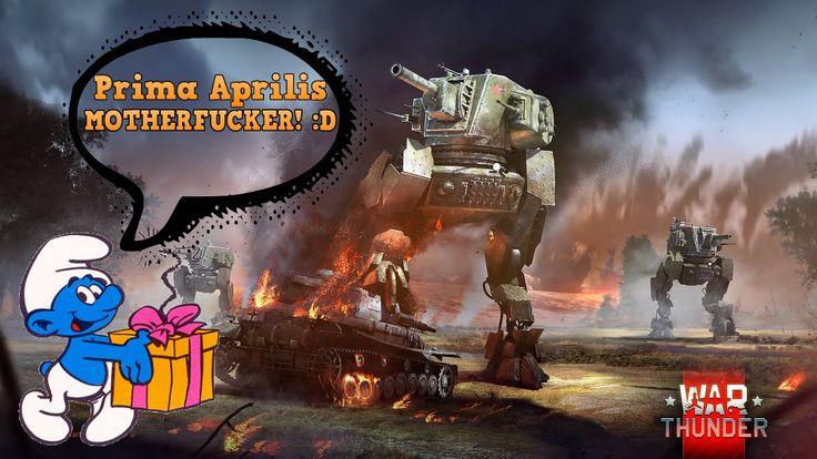 Na prima aprilis dodano w War Thunder fajną rozgrywkę :) Mechy,gumowe czołgi itd
