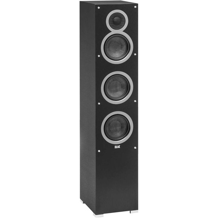 "Elac - Debut Dual 5-1/4"" 140-Watt Passive 3-Way Floor Speaker (Each) - Black"