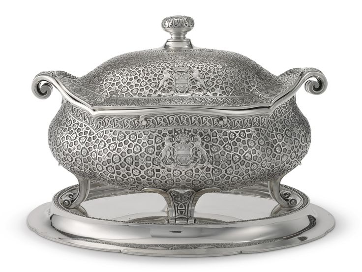 The Ashburnham Service An early Victorian silver soup tureen cover liner and stand  sc 1 st  Pinterest & 19 best Victorian Tableware-Serveware (1831-1889) images on ...