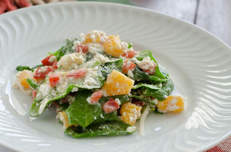 Excelente opção para dieta. Salada de composição diferente, sabor intenso e deliciosa!