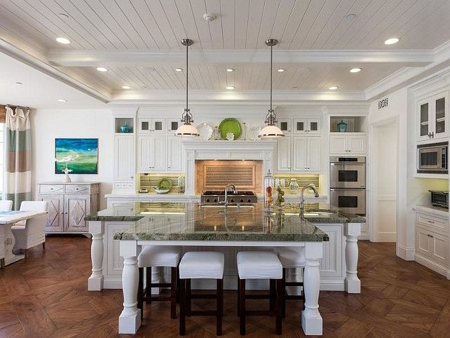 Kitchen | Cape Cod oceanfront beach house located on the white sands of Strands Beach | Dana Point, CA