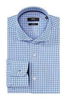 Slim-fit business shirt 'Jery' in easy-iron cotton, Light Blue