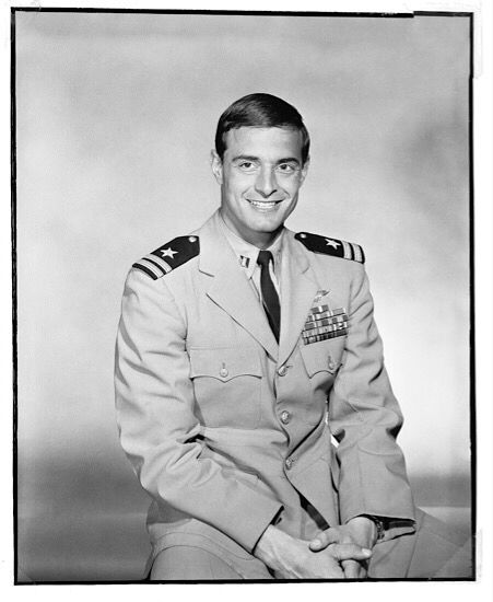 LT Dieter Dengler - USS RANGER (CV-61)  Navy Pilot  -A1H Skyraider -  POW , he escaped from POW camp , rescued by the USAF SAR Team , he was sent to DaNang evacuation hospital to recover.